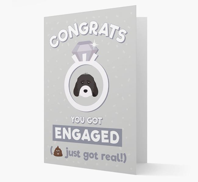 'Congrats You Got Engaged' Card with your Cockapoo Icon