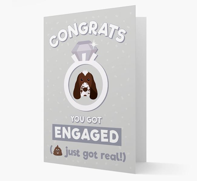 'Congrats You Got Engaged' Card with your Cocker Spaniel Icon