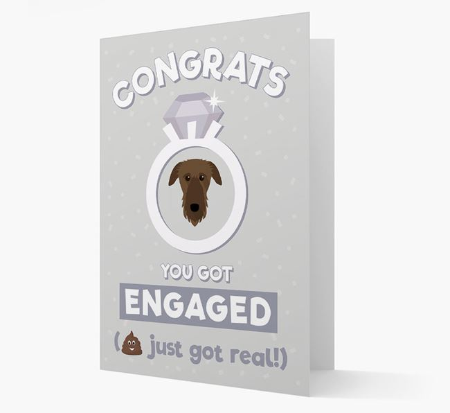'Congrats You Got Engaged' Card with your Deerhound Icon