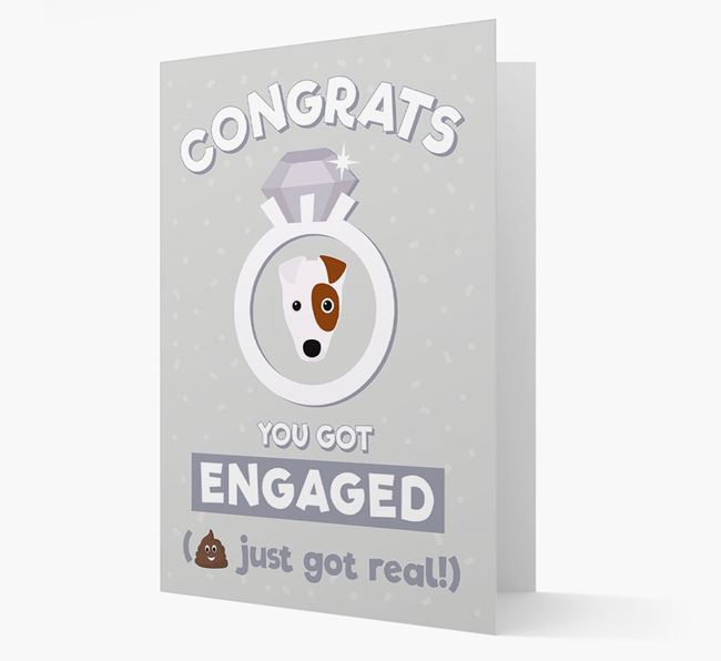 'Congrats You Got Engaged' Card with your Fox Terrier Icon