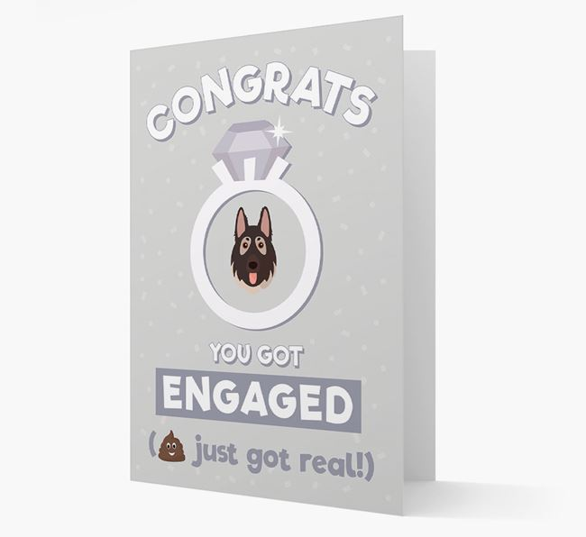 'Congrats You Got Engaged' Card with your German Shepherd Icon