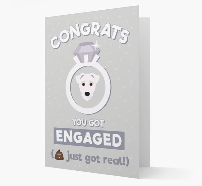 'Congrats You Got Engaged' Card with your Jack-A-Poo Icon