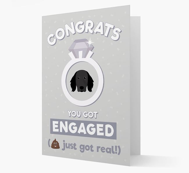 'Congrats You Got Engaged' Card with your Large Munsterlander Icon