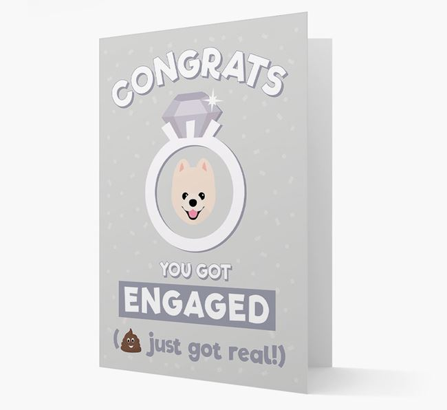 'Congrats You Got Engaged' Card with your Pomeranian Icon