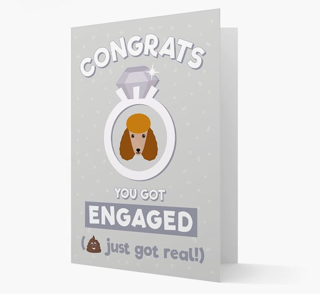 'Congrats You Got Engaged' Card with your Poodle Icon