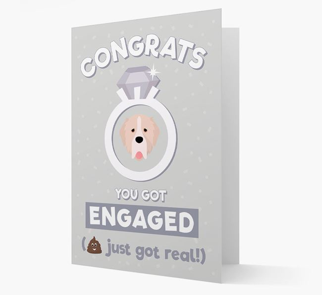 'Congrats You Got Engaged' Card with your Pyrenean Mastiff Icon
