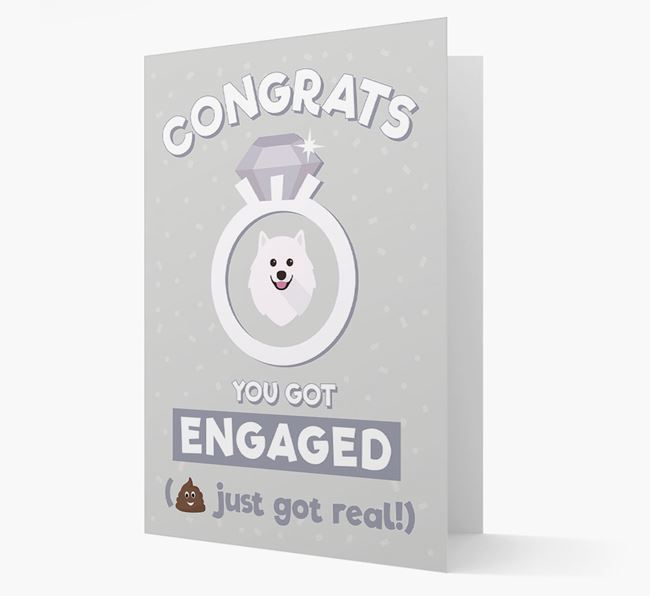 'Congrats You Got Engaged' Card with your Samoyed Icon