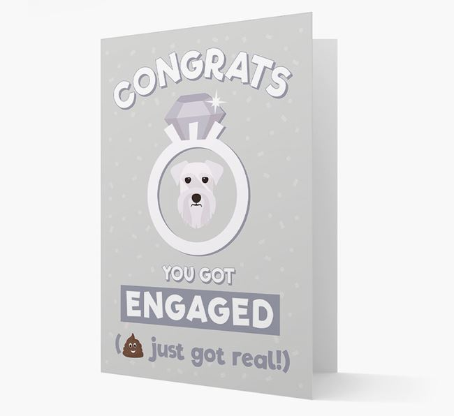 'Congrats You Got Engaged' Card with your Schnauzer Icon