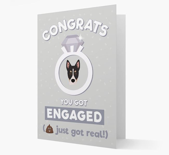 'Congrats You Got Engaged' Card with your Siberian Cocker Icon
