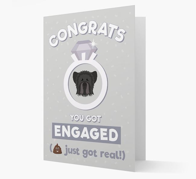 'Congrats You Got Engaged' Card with your Skye Terrier Icon