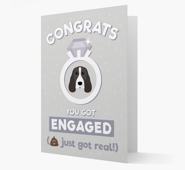 'Congrats You Got Engaged' Card with your Springer Spaniel Icon
