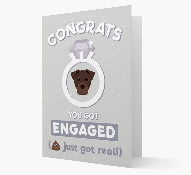 'Congrats You Got Engaged' Card with your Staffy Jack Icon