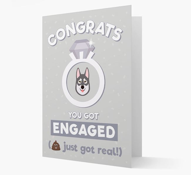 'Congrats You Got Engaged' Card with your Tamaskan Icon