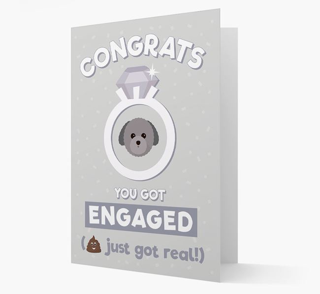 'Congrats You Got Engaged' Card with your Toy Poodle Icon