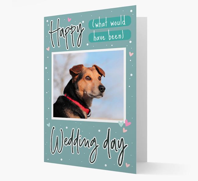 'Happy (What Would Have Been) Wedding Day' Card with Photo of your Bearded Collie