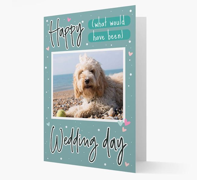 'Happy (What Would Have Been) Wedding Day' Card with Photo of your Cockapoo