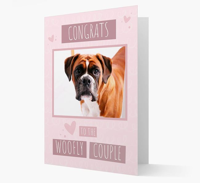 'Congrats To The Woofly Couple' Card with Photo of your Dog