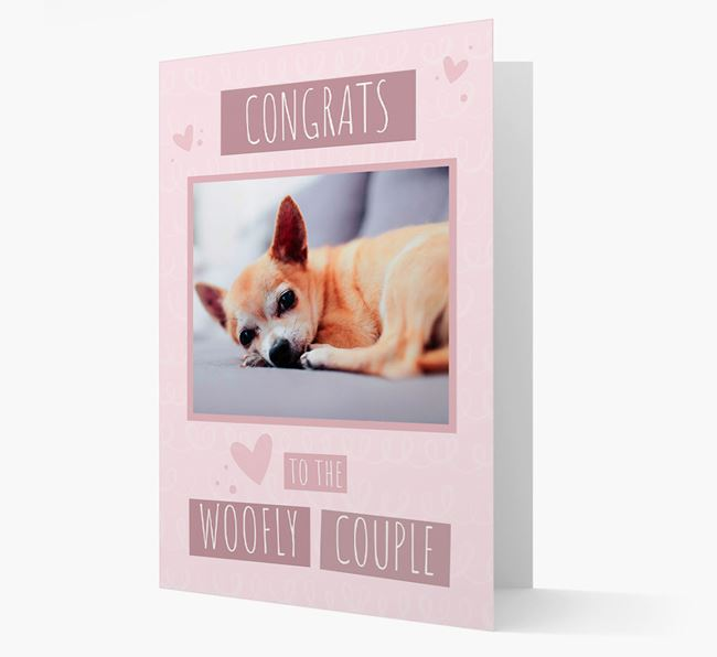 'Congrats To The Woofly Couple' Card with Photo of your Chihuahua