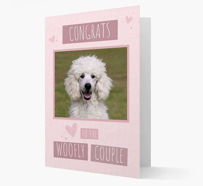 'Congrats To The Woofly Couple' Card with Photo of your Poodle