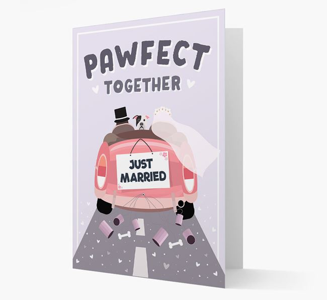 'Pawfect Together' Wedding Card with American Bulldog Icon