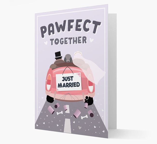'Pawfect Together' Wedding Card with Miniature Poodle Icon