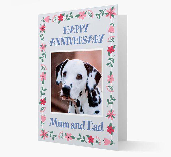 'Happy Anniversary Mum and Dad' Card with Photo of your Dog