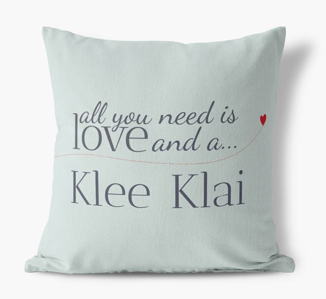 All you need is love and a Klee Klai Canvas Cushion