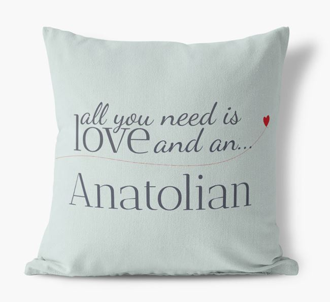 All you need is love and an Anatolian Canvas Cushion