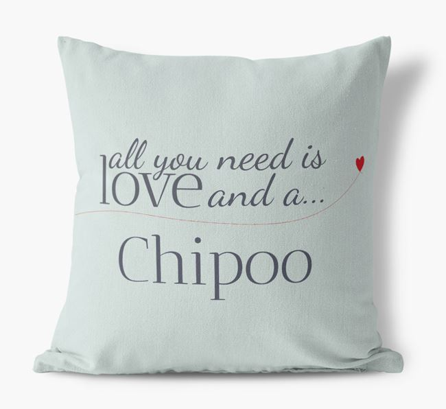 All you need is love and a Chipoo Canvas Cushion