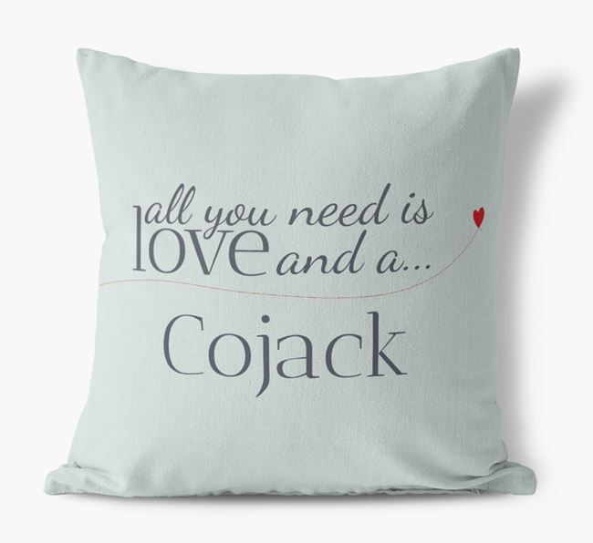 All you need is love and a Cojack Canvas Cushion