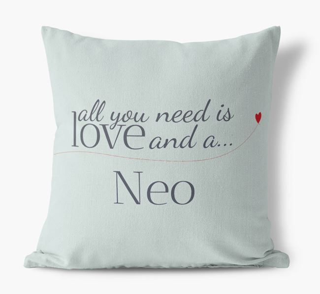 All you need is love and a Neo Canvas Cushion