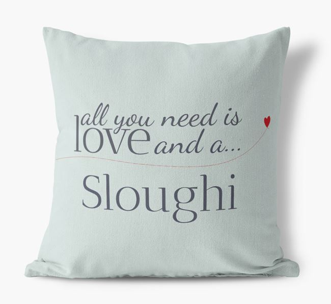 All you need is love and a Sloughi Canvas Cushion