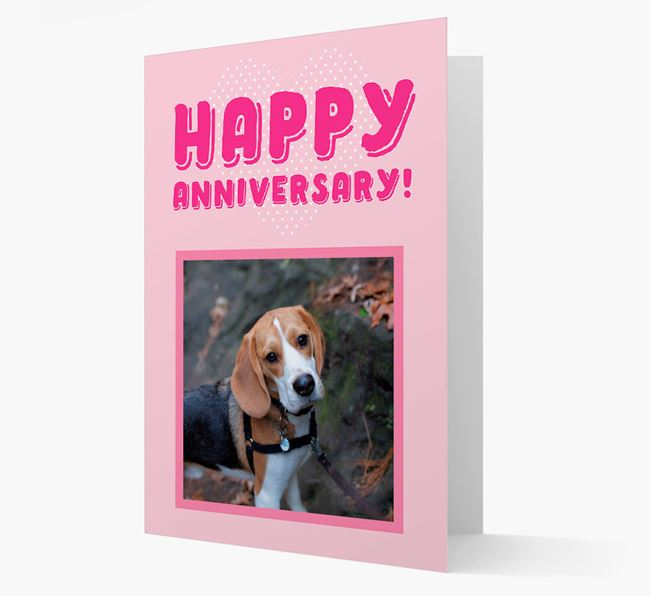 'Happy Anniversary!' Card with Photo of your Beagle