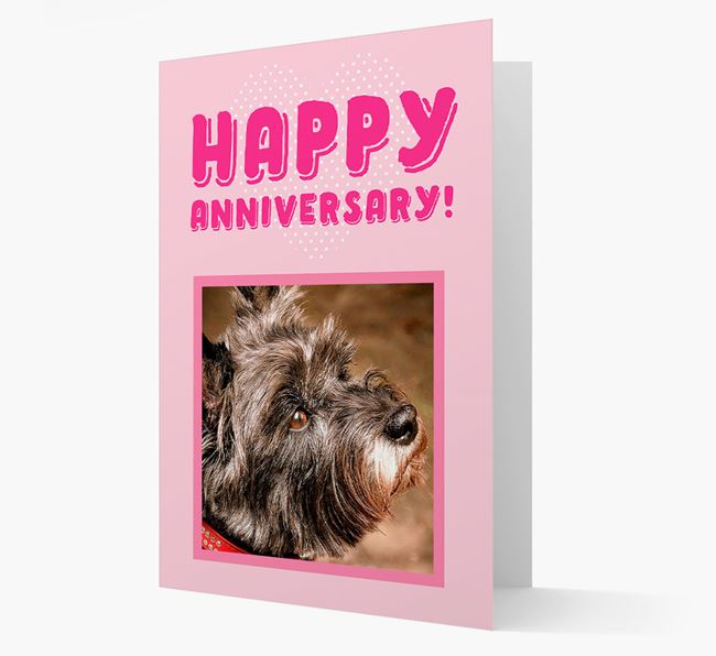 'Happy Anniversary!' Card with Photo of your Cairn Terrier