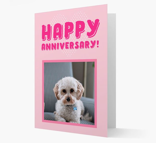 'Happy Anniversary!' Card with Photo of your Cavapoo