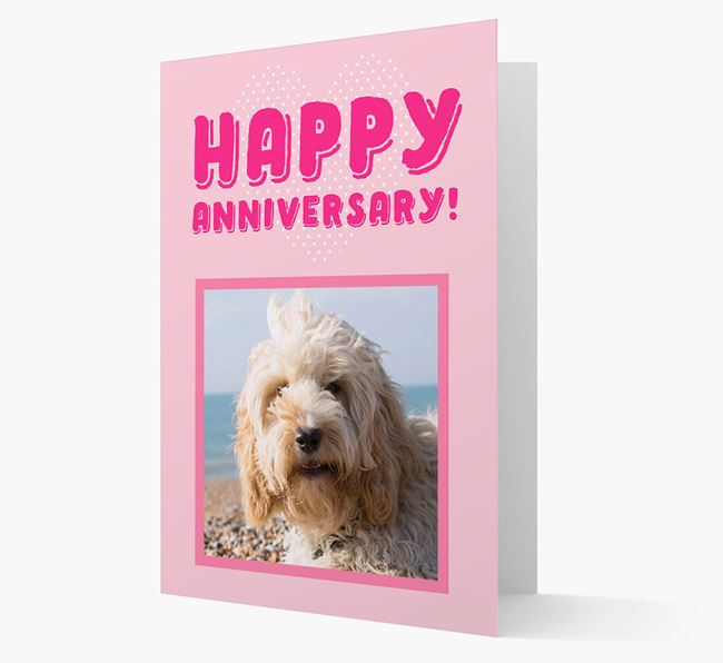 'Happy Anniversary!' Card with Photo of your Cockapoo