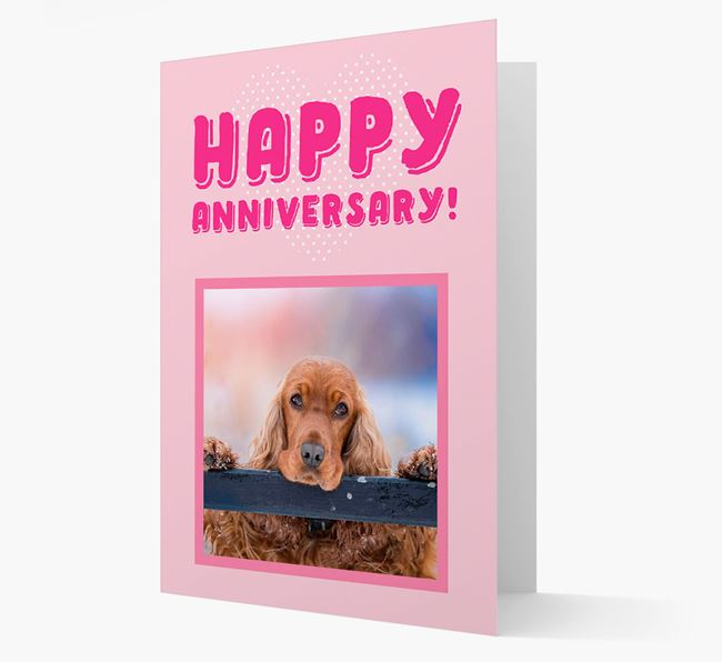'Happy Anniversary!' Card with Photo of your Cocker Spaniel