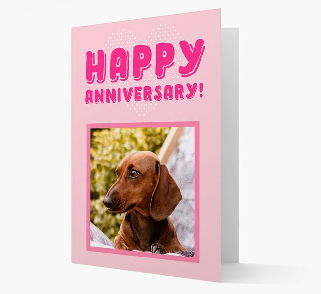 'Happy Anniversary!' Card with Photo of your Dachshund