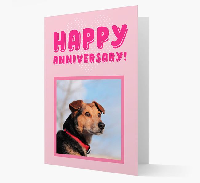 'Happy Anniversary!' Card with Photo of your Flat-Coated Retriever