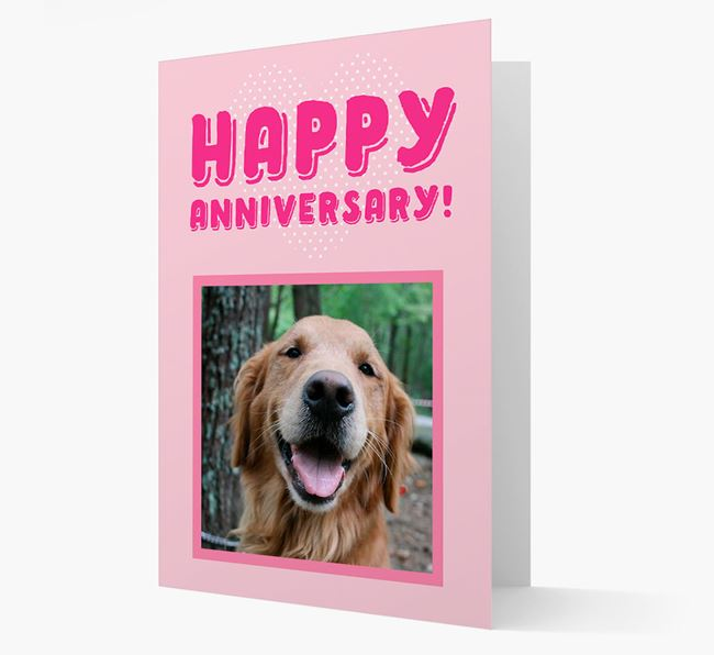 'Happy Anniversary!' Card with Photo of your Golden Retriever