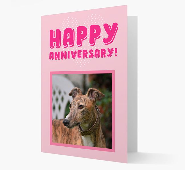 'Happy Anniversary!' Card with Photo of your Greyhound