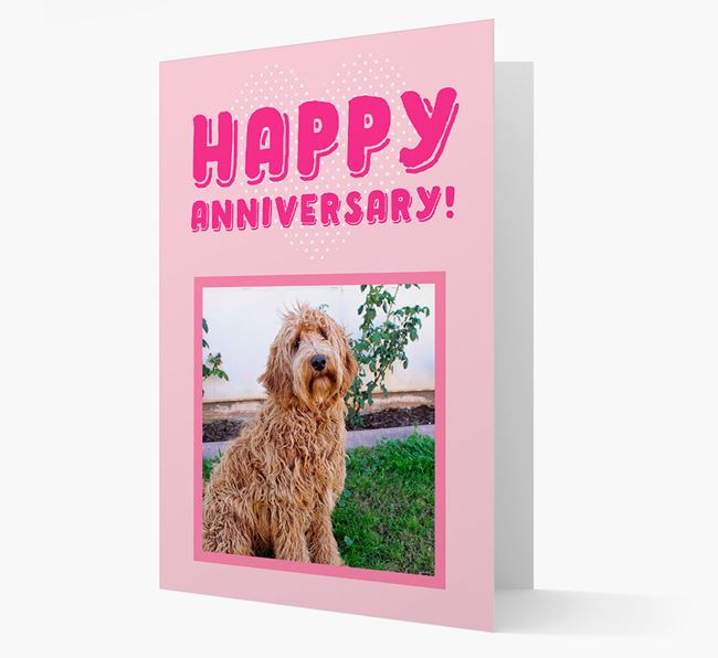 'Happy Anniversary!' Card with Photo of your Labradoodle