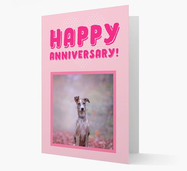 'Happy Anniversary!' Card with Photo of your Lurcher