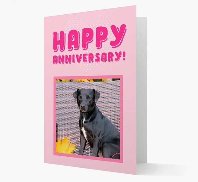 'Happy Anniversary!' Card with Photo of your Patterdale Terrier