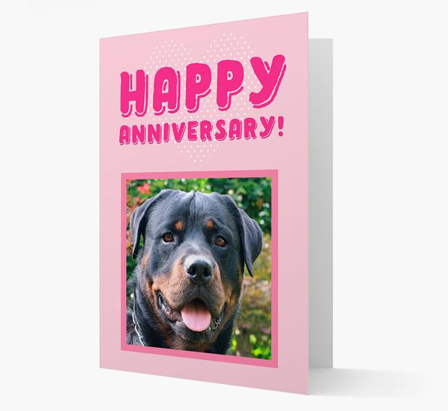 'Happy Anniversary!' Card with Photo of your Rottweiler
