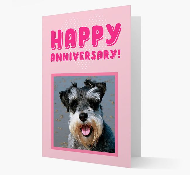 'Happy Anniversary!' Card with Photo of your Schnauzer