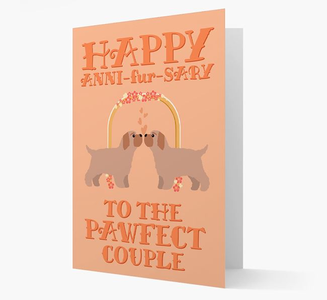 'Happy ANNI-fur-SARY' Card with Bich-poo Icon