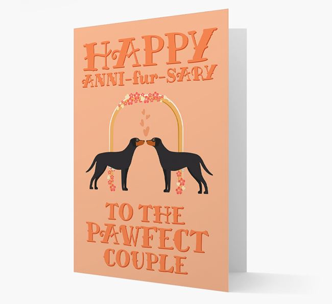 'Happy ANNI-fur-SARY' Card with Blue Lacy Icon