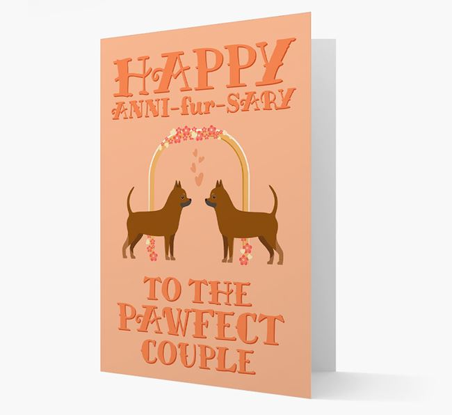 'Happy ANNI-fur-SARY' Card with Chihuahua Icon