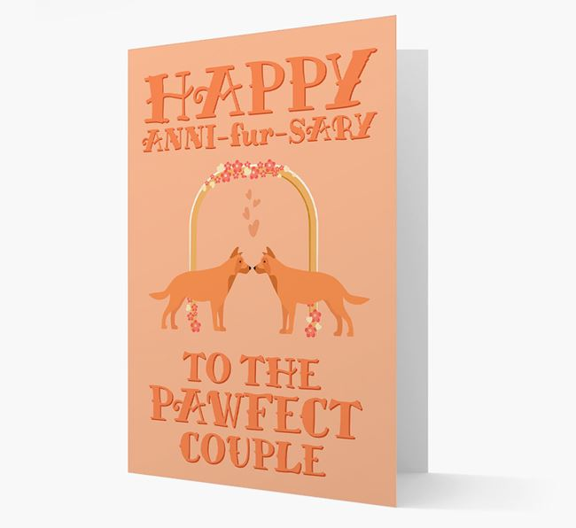 'Happy ANNI-fur-SARY' Card with Chinook Icon